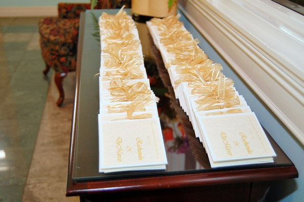 Beautiful DIY Wedding programs done by the bride