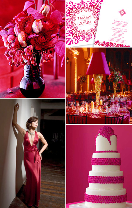 Pink and Red Wedding Theme